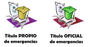 Diferencias entre título propio de emergencias y titulo Oficial de emergencias