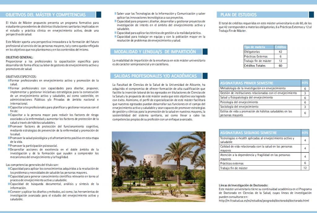 Máster Envejecimiento y Salud Alicante