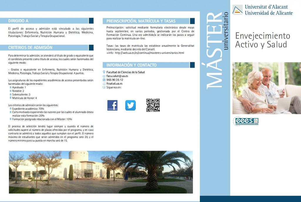 Máster Envejecimiento Activo y Salud Alicante