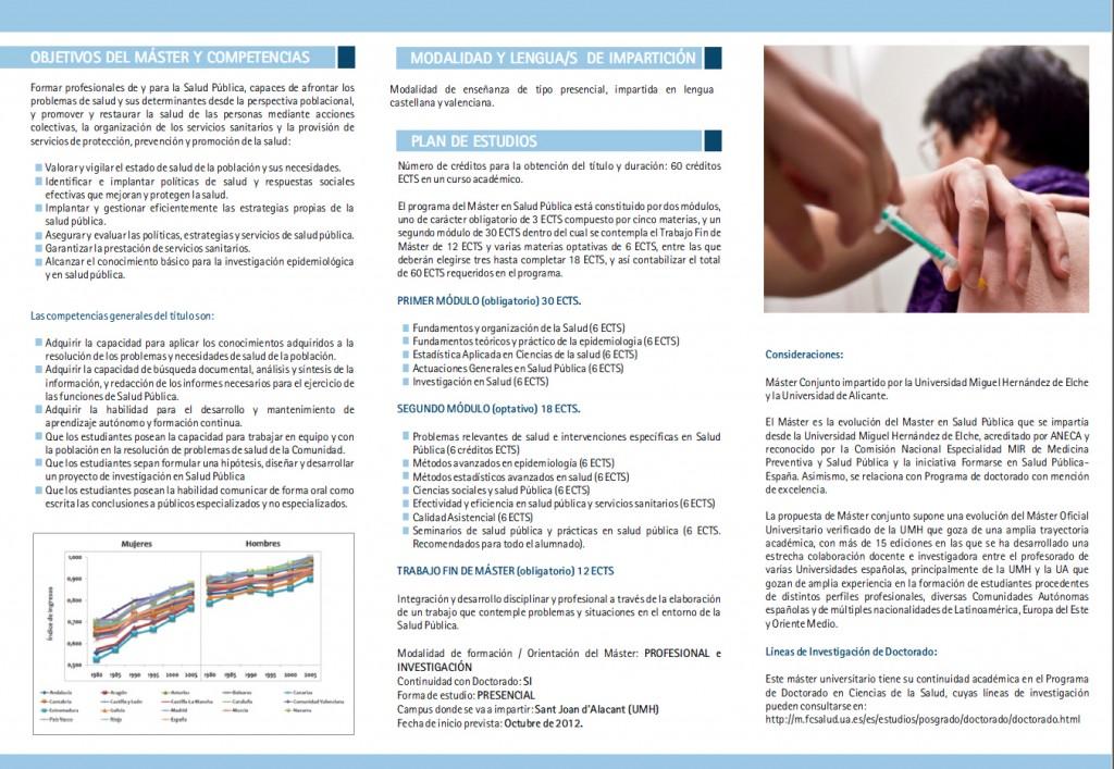 Máster Univesitario Salud Pública Alicante