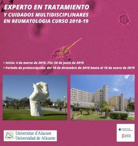 EXPERTO EN TRATAMIENTO Y CUIDADOS MULTIDISCIPLINARES EN REUMATOLOGIA CURSO 2018-19
